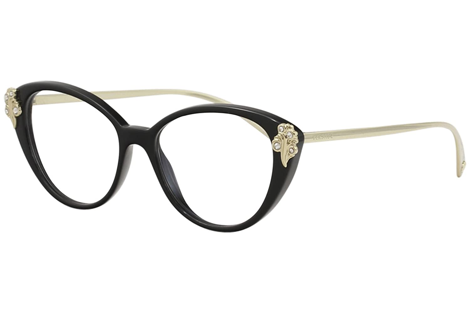 Versace VE3262B Eyeglass Frames GB1-52 - Black VE3262B-GB1-52 BAROCCOMANIA VE 3262B