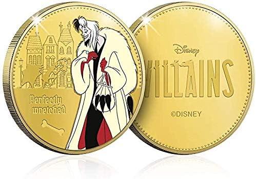 IMPACTO COLECCIONABLES Disney Villains Limited Edition Gold-Sammelm/ünze Cruella De Vil