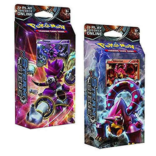 Pokemon TCG: Steam Siege,  Ring of Lightning 60-Card Theme Deck Featuring A Holographic Hoopa