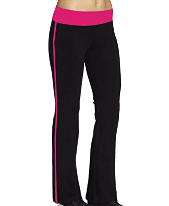 13d2cf206f2c8 ABUSA Women's Stretch Bootleg Trousers Casual Straight-leg Work Pants Full  Length Ribbed Boot Cut