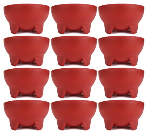 Set of 12 Red Black Duck Brand 4.5