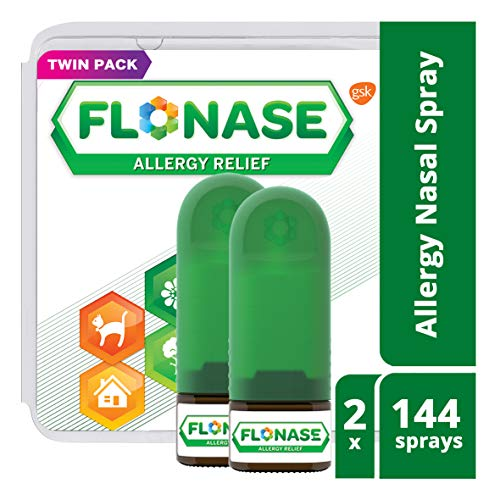 Flonase Allergy Relief Nasal Spray, Allergy Medicine 24 Hour Non-Drowsy , 288 sprays (pack of 2) ()