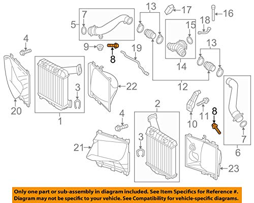 Bolt On Turbocharger - PORSCHE OEM Cayenne Turbo Turbocharger Intercooler-Pressure Pipe Bolt N10323103