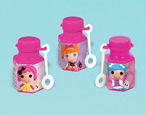 Adorable Lalaloopsy Mini Bubbles Birthday Party Toy Favours (12 Pack), Multi Color, .6 oz.]()