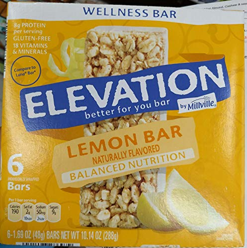 Elevation Lemon bar Wellness 10.14oz(1.69oz x 6bars), Pack of 1
