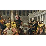 The polyster Canvas of oil painting 'Veronese Paolo Christ with the Doctors in the Temple Ca. 1560 ' ,size: 8 x 15 inch / 20 x 37 cm ,this Cheap but High quality Art Decorative Art Decorative Prints on Canvas is fit for Foyer gallery art and Home artwork and Gifts