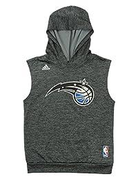 adidas NBA Youth Boys Orlando Magic Sleeveless Hoodie, Gray
