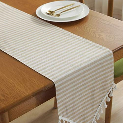 US-ROGEWIN Table Runner Simple Striped Elegant Gorgeous Christmas Wedding Home Decorative Durable Tablecloth]()