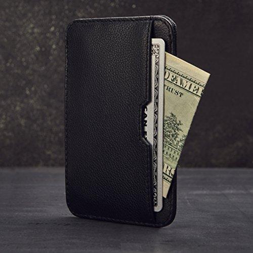 Vaultskin Chelsea Men Slim Leather Wallet, Black