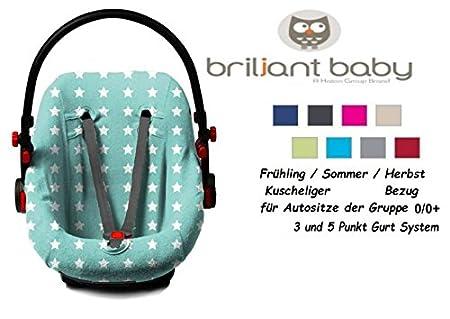 BriljantBaby BabyFit ** Universal Schonbezug 100% Baumwolle Interlock-Jersey ** Für Babyschale, Autositz, z.B. Maxi Cosi Cabr