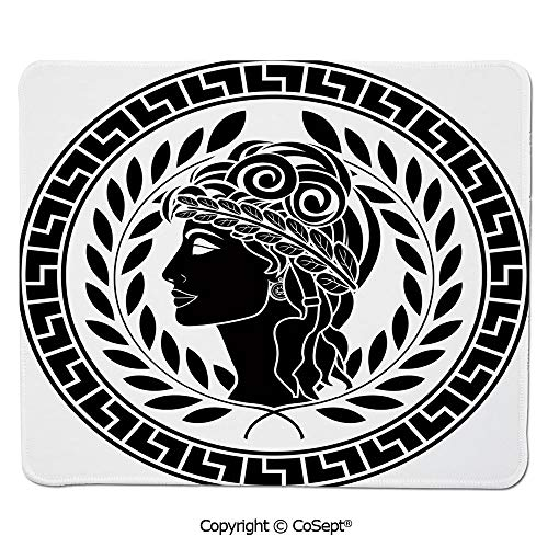 - Quality Selection Comfortable Mouse Pad,Roman Elegance Beauty Muse Portrait Patrician Woman Old Fashion Aesthetic Icon,Water-Resistant,Non-Slip Base,Ideal for Gaming (7.87