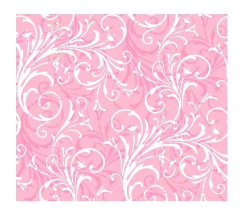York Wallcoverings KD1724SMP Just Kids Layered Scroll 8-Inch x 10-Inch Wallpaper Memo Sample, Pinks