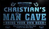 qa235-b Christian's Man Cave Football Game Room Bar Neon Beer Sign