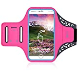 Water Resistant Sports Armband, THRRLY Ultra Thin Fingerprint Screen Unlock Gym Running/Workout Arm Band Case with Key/Card Holder for iPhone 8 Plus/7 Plus 6/6s Plus 5.5 inch. (Rose) Review