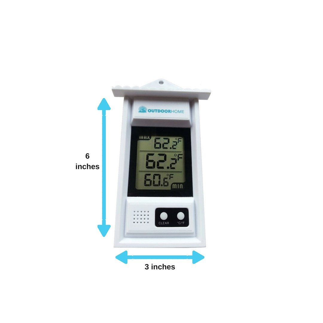 Digital Min Max Thermometer by Outdoor Home. Perfect for Garden, Patio or Greenhouse. Accurate Weather Thermometer with Current Temp & Auto Sensor for Min Max Readings Use Indoors Or Outdoors. by OutdoorHome (Image #2)