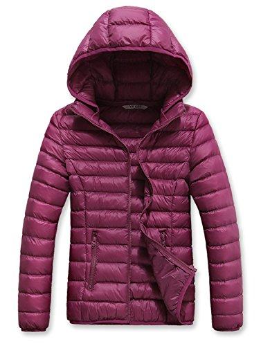 Anatoky Women's Lightweight Warm Hooded Down Coat Winter Outwear