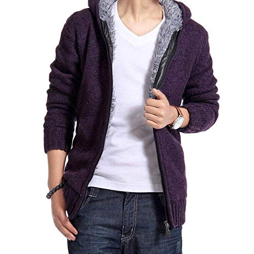 Pull C Cardigan Automne Hommes Violett Pullover Hiver Tricot zn5qwxgYY