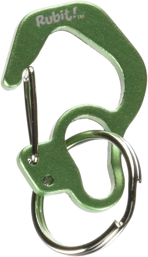 Rubit Curva de Chapa fácil Forma Interruptor Clip, Grande, 1.3-Inch diámetro, Verde