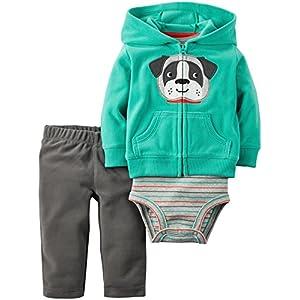 Carter's Baby Boys' Cardigan Sets 121g765, Green Dog, 12 Months