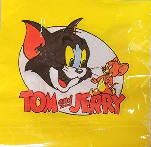 Tom and Jerry Party Napkins Lunch Birthday Favors Decoration Partyware 10 Pieces