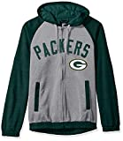 G-III Sports NFL Green Bay Packers Legend Hooded Track Jacket, XX-Large, Gray