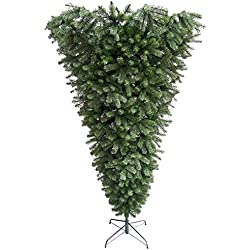"Northlight 7.5' x 60"" Upside Down Spruce Medium Artificial Christmas Tree - Unlit"