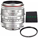 Pentax HD Pentax DA 20-40mm f/2.8-4 ED Limited DC WR Lens (Silver) + UV Filter + MicroFiber Cloth 6AVE Bundle