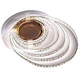 LEDwholesalers 24V 144W Ultra-Bright 90-CRI 16.4-Feet Flexible Ribbon LED Strip Light with 600xSMD2835, White, 20218WH