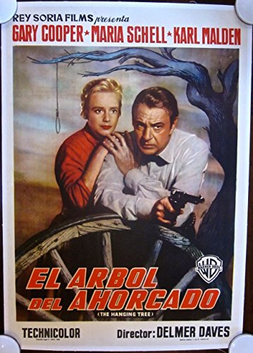 CUT 50 THE HANGING TREE 1959 SPANISH LB POSTER - RARE GARY COOPER ARTWORK