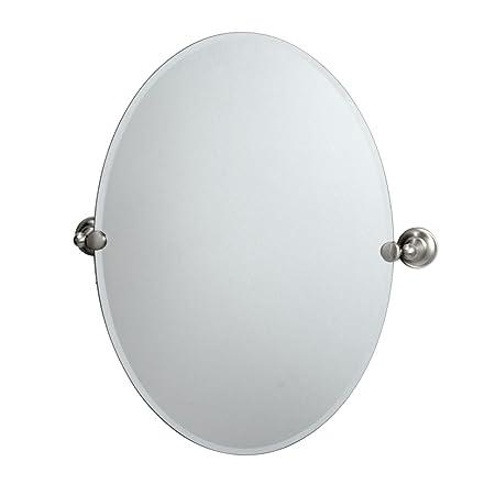 Gatco 4339 Tiara Oval Wall Mirror, Satin Nickel