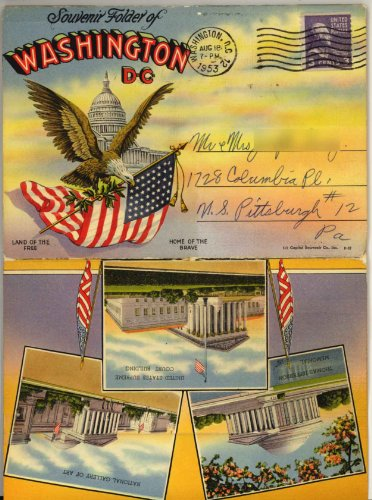 Washington D. C. (1930's Souvenir Postcard Folder) #P-32 (Washington Capitol Dc Postcard)