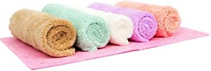 Microfiber Cleaning Cloth for Kitchen, Furniture, Window, Premium Absorbent, 1PC Coconut Shell Cloth as Gift Pack of 5
