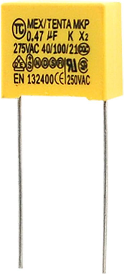 SOURCING MAP 10 condensadores de corriente alterna 275V 0.47uF Pel/ícula metalizada de polipropileno