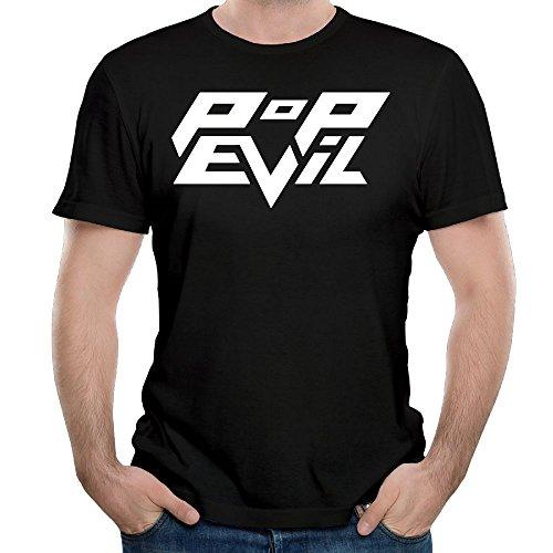 Uolongqul Mens Pop Evil T-Shirt Black XL -