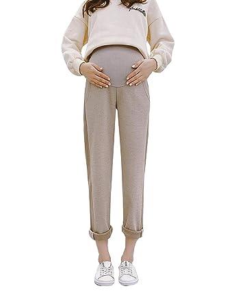 Shaoyao Pantalones de Oficina de Trabajo Embarazadas Pantalone ...