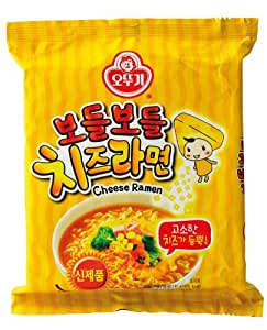 Ottogi Brand Instant Cheese Ramen 111g. - Pack of 5