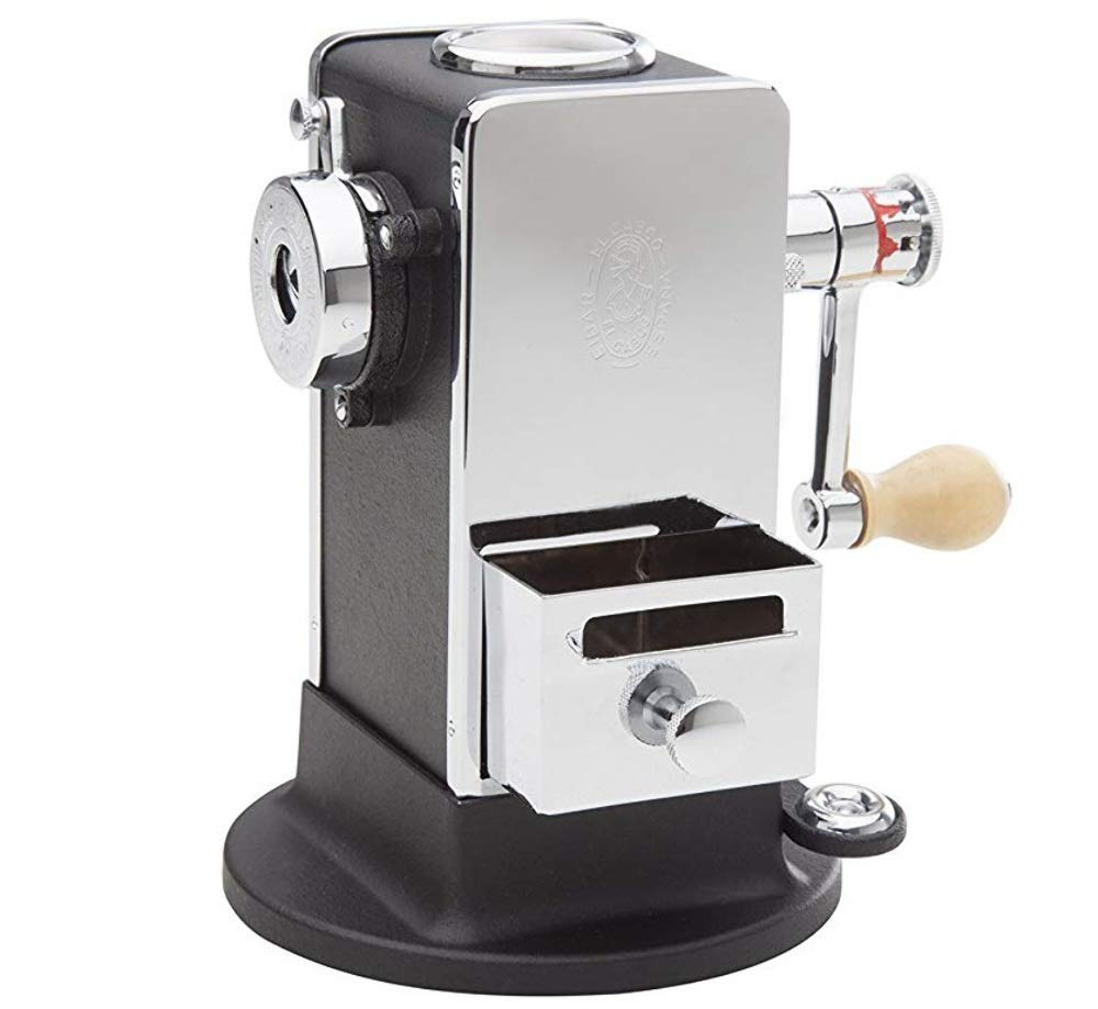 El Casco Pencil Sharpener With Base Side / Load Black And Chrome M-430CN