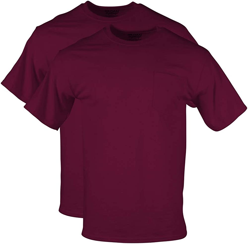 Gildan Men's DryBlend Workwear T-Shirts with Pocket, 2-Pack at  Men's Clothing store