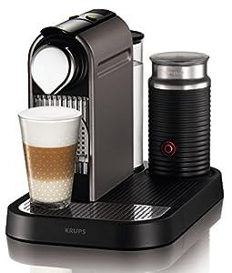 Krups XN 730T Cafetière à dosettes Nespresso New Citiz & Milk, réservoir à eau 1 l, 1 Aeroccino (Titane)  (ancien modèle)