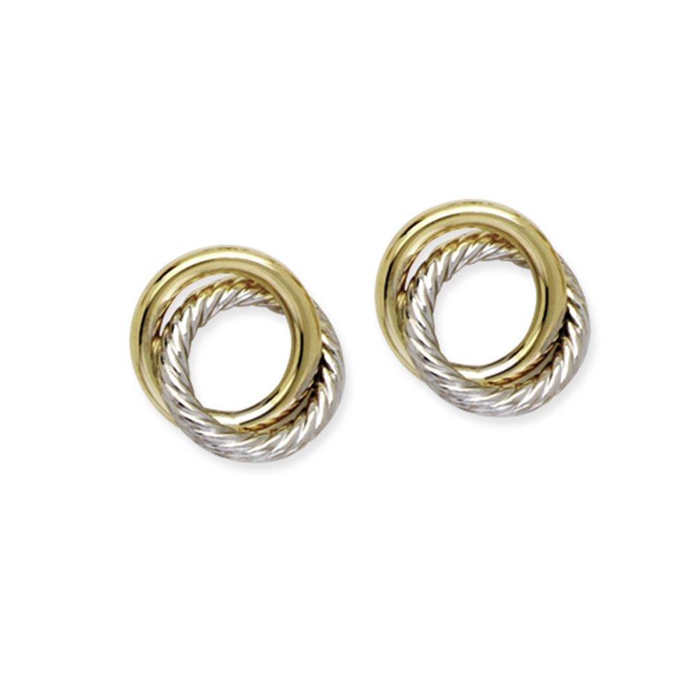 Love Knot Earring, 14Kt Gold Love Knotpost Earring by DiamondJewelryNY (Image #1)
