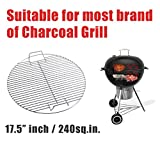 Cheap BBQ WINJ BBQ Grates Fire Grate BBQ NET Pit Barrel Barbecue Grill Fire Pit BBQ Cooking Grate, Heavy Duty 44.5cm bbq net Barbecue Grid Replacement Barbecue Cooking Grates (Round Basket)