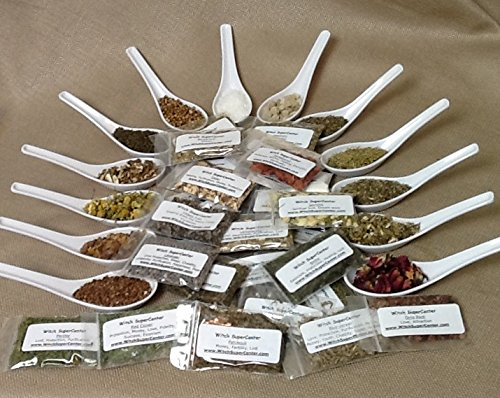 45 Magickal Incense Herbs Spell Kit- Wicca, Witchcraft, Hoodoo by Witch (Patchouli Leaves)