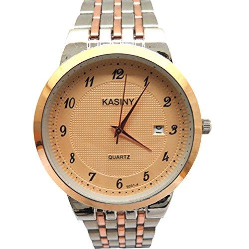2016 hombres reloj de cuarzo de acero de la moda reloj de pulsera reloj de pulsera reloj de pulsera reloj par Cassini especial PROMO: Amazon.es: Relojes