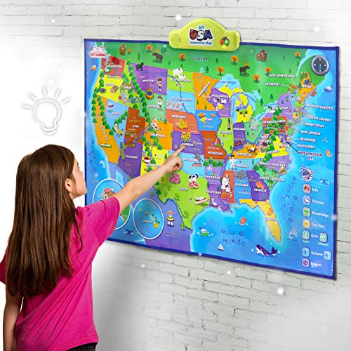 BEST LEARNING i-Poster My USA Interactive Map - Educational Talking Toy for Boys and Girls Ages 5 to 12 Years Old - Ideal Gift for Kids by BEST LEARNING (Image #1)
