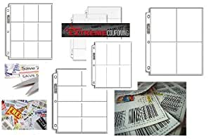 Ultra Pro Coupon Saver Starter Pack / Coupon Binder Storage Pages (5 Different 3-Ring Album Page Styles - 50 Pages) Extreme Couponing!!