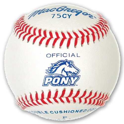 MacGregor Youth 75CY Official Pony League Baseball (One Dozen) by Athletic Specialties