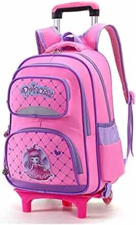 7873481ca1c9 Lyfreen Rolling Backpack School Bag School Backpack Cute School Bags for  Girls