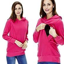 Maternity Nursing Clothes,FTXJ Breastfeeding Hoodie Warm Sweatshirt For Nursing Women