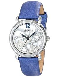 Stuhrling Original Women's 737.01 Vogue Pirouette Analog Display Swiss Quartz Blue Watch