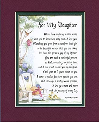 Amazon Genies Poems Sentimental Present Gift Poem For Daughter Birthday Christmas 47 Home Kitchen